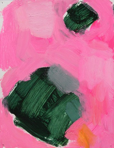 Abstract Study Green/Pink I