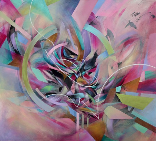 Douglas keliiheleua kleinsmith modern contemporary graffiti colorful abstract art artist sacramento university union gallery scribble show