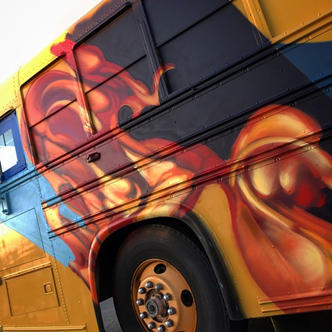 graffiti food truck fire flames art abstract art douglas Keliiheleua Kleinsmith sfg artist spray paint