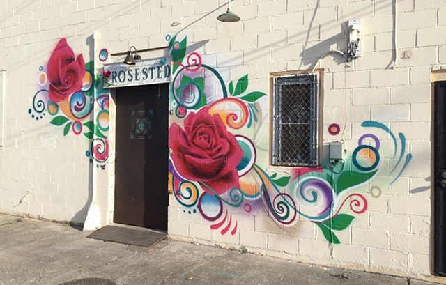 rosested mural artist sacramento douglas keliiheleua kleinsmith flowers graphic henna colorful design graffiti spray paint aerosol