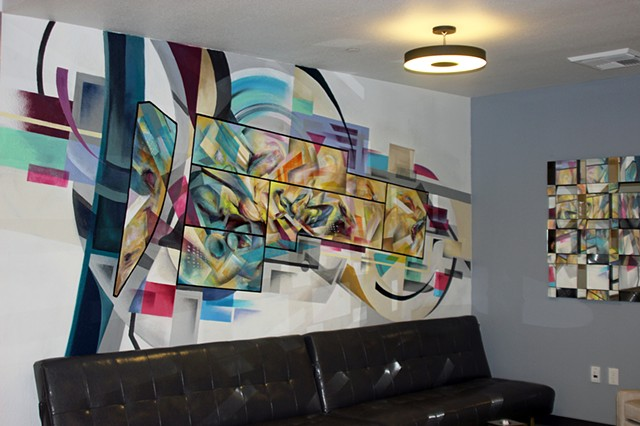 downtown Sacramento partnership abstract mural douglas keliiheleua kleinsmith artist modern contemporary