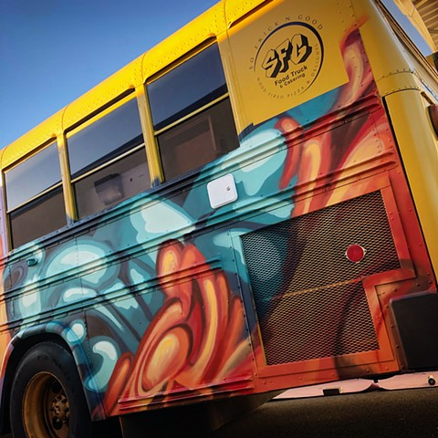 graffiti art mural food truck douglas Keliiheleua Kleinsmith sfg artist Sacramento abstract