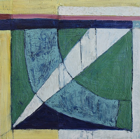 Contemporary Art / Painting / Oil  / Encaustic, Sea Geometry No. 160