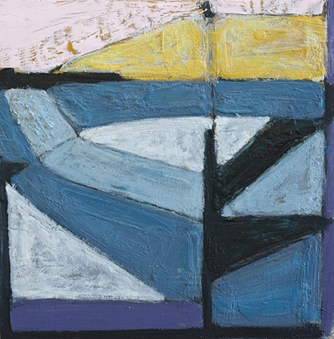 Contemporary Art / Painting / Oil  / Encaustic , Sea Geometry No. 164