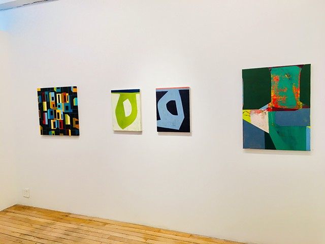 """Form Singularity "" paintings in ""On Edge"" at the Painting Center."