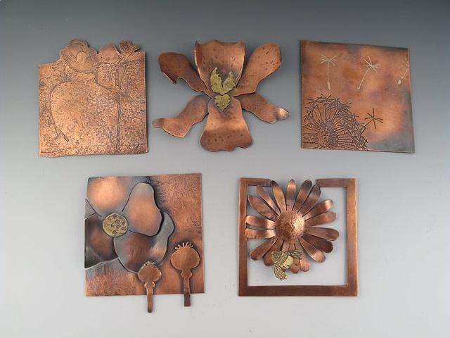 Top Left to Bottom Right: Freesia, Iris, Dandelion, Poppy, Daisy