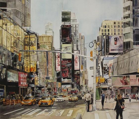 Good Morning, NYC! watercolor