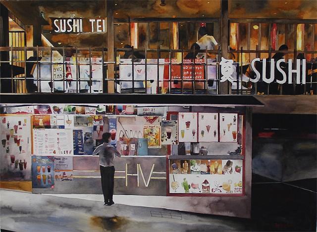 Bubble Tea, Sushi Tei at Holland V