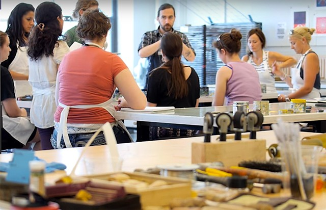 Video: Instructor Joshua Brennan on BU Summer Studios Printmaking