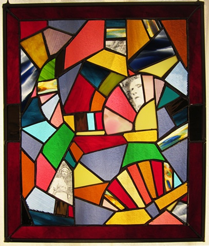 Glass Crazy Fan Quilt