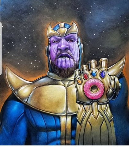 Stephen Kramer Glickman as Thanos