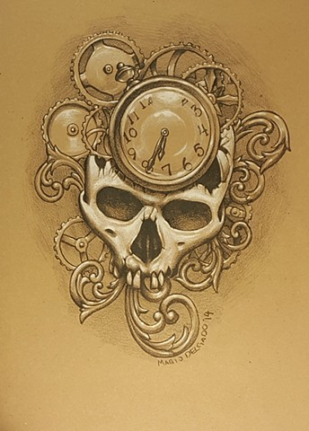 broken filigree skull