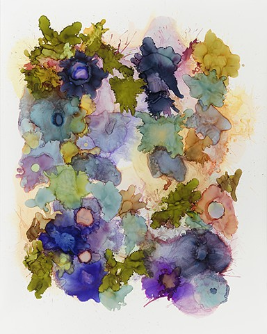 Contemporary art, abstraction, floral, botanical.