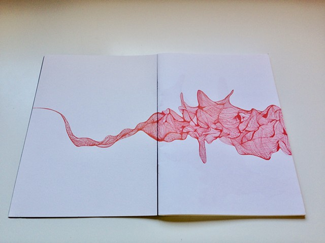 Antonella Cusimano - Drawing on paper - 'The Red Book'