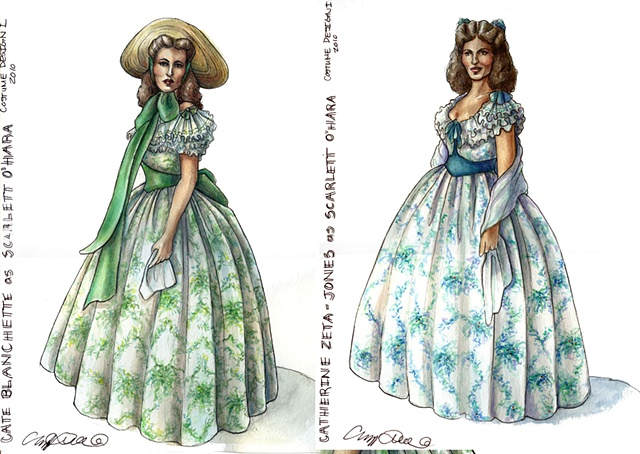Dressing Two Leading Women as Scarlett O'Hara