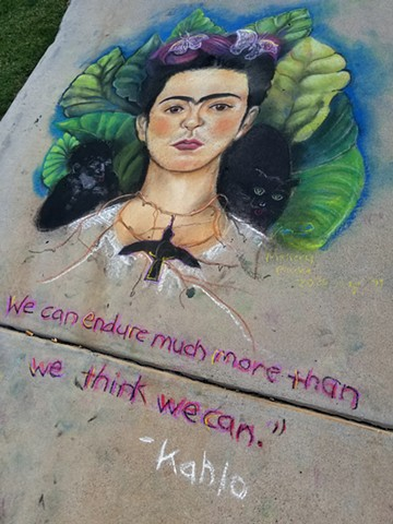 Frida Kahlo Mural, Volume One, ChalkFest