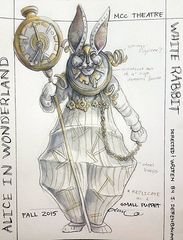 White Rabbit Costume Rendering