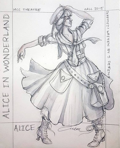 Alice Costume Rendering