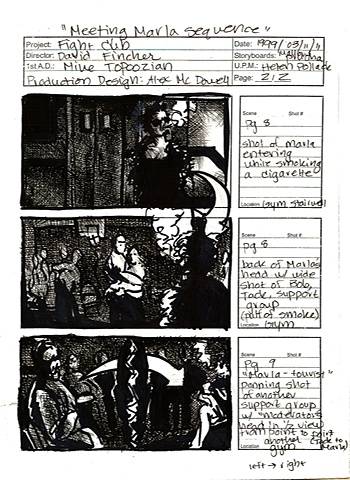 Fight Club Storyboard