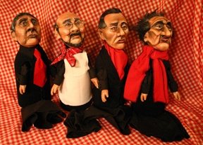 James Lipton, Meyerhold, Artaud and Brecht Hand Puppets