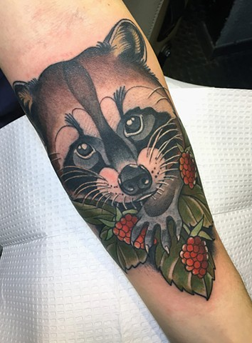 tattoo, tattoos, portland, female, woman, tattooer, tattoo artist, nature tattoo, wildflife tattoo, color tattoo, southeast portland