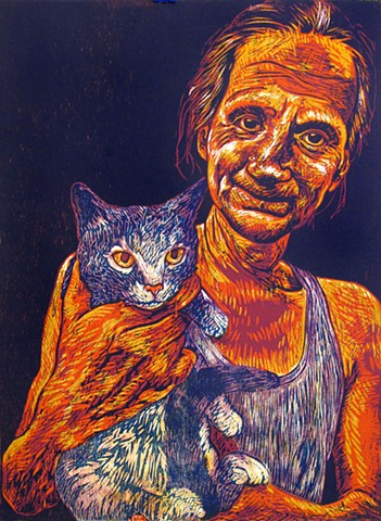 Steve Holding Cat (No. 1)