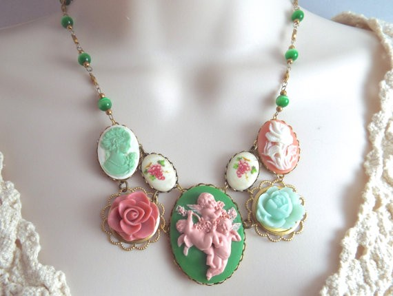 baroque cameo necklace