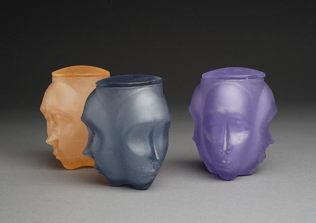 Three Face Jars