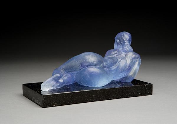 Blue Figure (Back View)