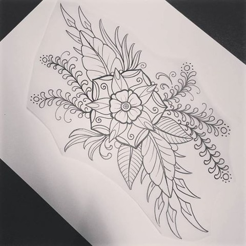 mandala flower wrap design