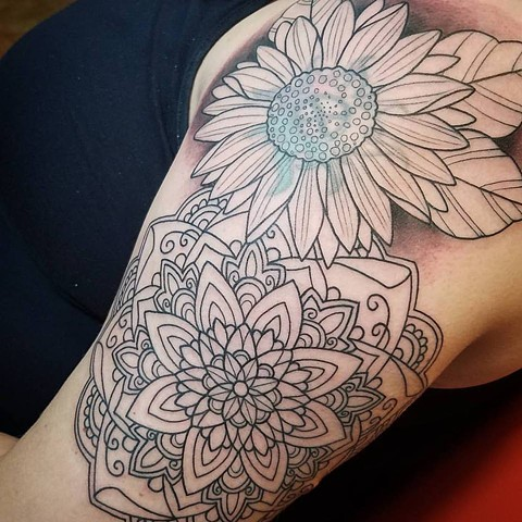 sunflower/mandala