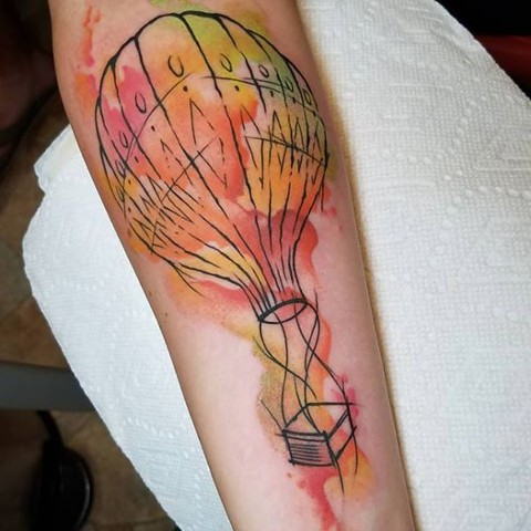 watercolor hot air balloon