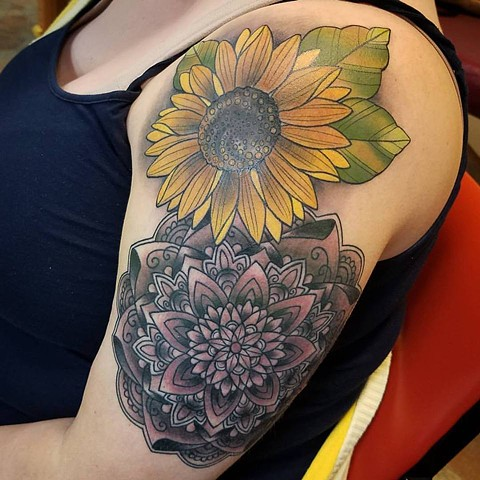 finished sunflower/mandala