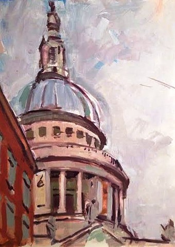 Oil Sketch of St Pauls