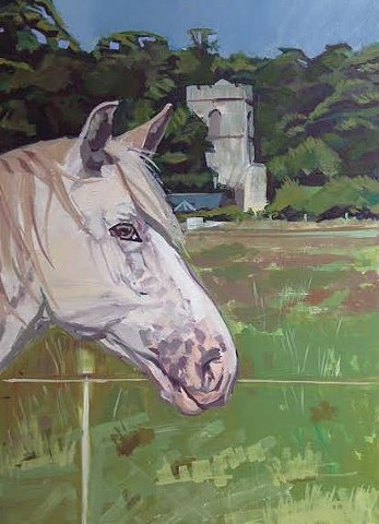 A Horse Near the Ruined Church, Ayot St Lawrence