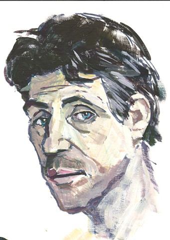 Portrait of Gabriel Byrne for 'Pulp The Classics - Dubliners' book jacket illustration