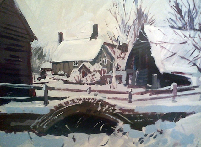 Farmhouse In Winter