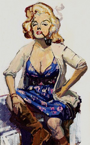 Marilyn Monroe as Tess, for Pulp The Classics Tess of the D'Urbervilles Jacket