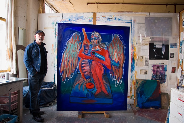 Prometheus Blues Triptych. 2010. Gerry Gleason.