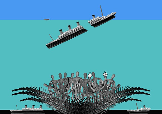 One hundred anniversary of the sinking of the RMS Titanic. Gerry Gleason.2012.