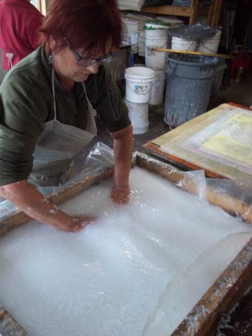 papermaking in the studio