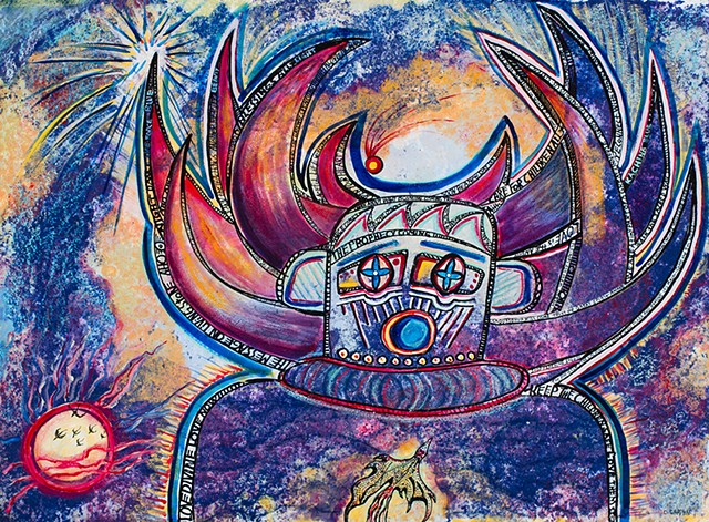 Blue Kachina with Prophecy