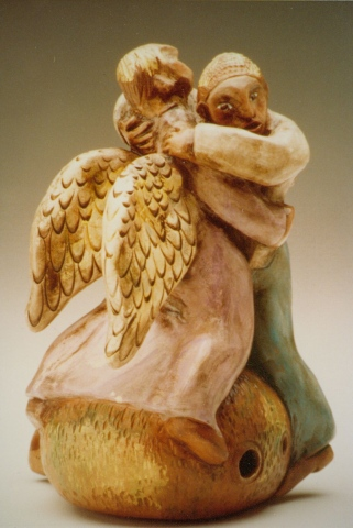 Jacob Wrestles With the Angel-- Clay Whistle
