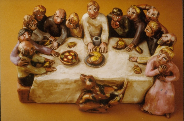 The Last Supper-- clay whistle