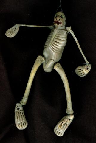 Dancing Skeleton Whistle-Puppet