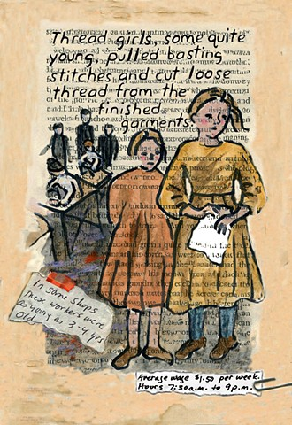 "Page from graphic novel portion of  ""A Shirtwaist Story."""