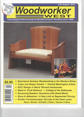 "The Vice Cabinet was featured in the August issue of ""Woodworker West"" magazine"
