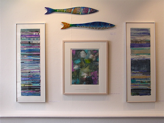 Paintings and fish, # 1