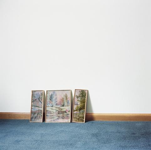 Artwork on floor, manufactured display home, © Amy Eckert www.amyeckertphoto.com