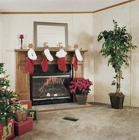 Christmas decorations, manufactured display home, © Amy Eckert www.amyeckertphoto.com